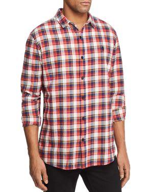 NANA JUDY Nana Judy Rush Plaid Graphic Back Button-Down Shirt - 100% Exclusive in Red