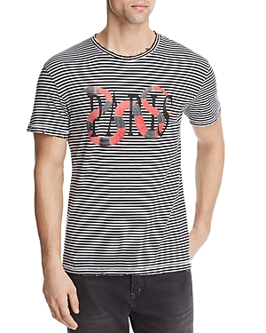 Eleven Paris Snakes Striped Tee