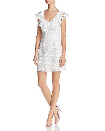 FRENCH CONNECTION - Massey Ruffled Lace Dress