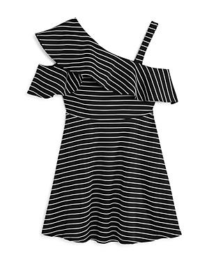 Bardot Junior Girls Senna Striped Asymmetrical Dress  Big Kid