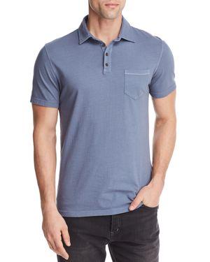 M SINGER Magic Wash Pocket Polo Shirt in Slate