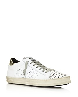 P448 - Women's John Mixed Media Lace-Up Sneakers