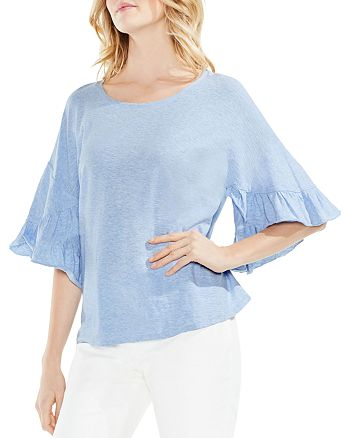 VINCE CAMUTO - Ruffle Bell Sleeve Top