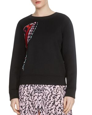 THEOPHILE BUTTERFLY EMBROIDERED SWEATSHIRT