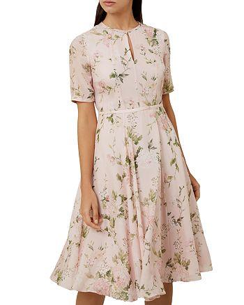 HOBBS LONDON - Riley Floral Print Silk Dress