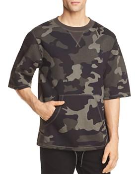 WeSC - Madison Camouflage Short Sleeve Sweatshirt