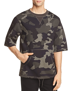 WeSC Madison Camouflage Short Sleeve Sweatshirt