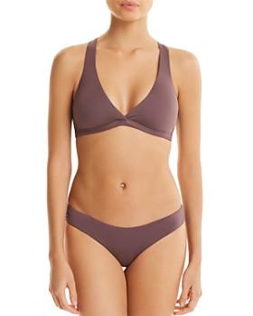 Maaji - Fig Swirl Reversible Fixed Halter Bikini Top & Sublime Reversible Hipster Bikini Bottom