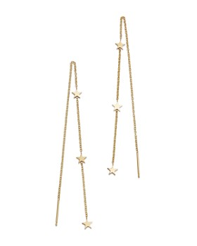 Zoë Chicco - 14K Yellow Gold Itty Bitty Stars Threader Earrings