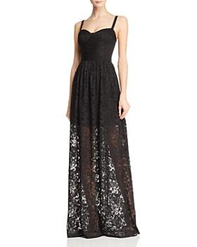 Black Halo - Joliette Illusion Lace Gown