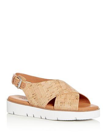 62de6391748 Gentle Souls by Kenneth Cole - Women s Kiki Cork Slingback Platform Sandals