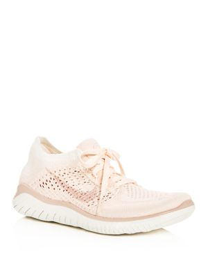 Women'S Free Rn Flyknit 2018 Lace Up Sneakers, Guava Ice/Particle Beige