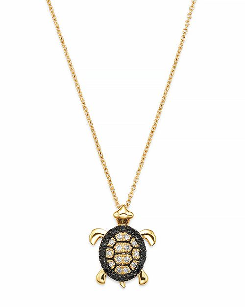 Bloomingdale's - Diamond Turtle Pendant Set In 14K Yellow Gold, 0.15 ct. - 100% Exclusive