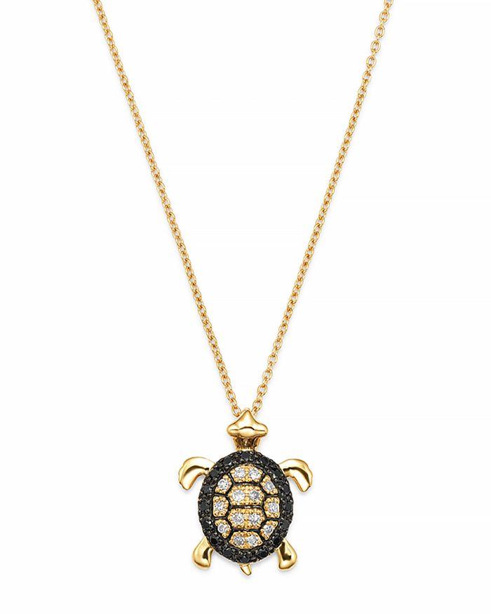 Bloomingdale's - Diamond Turtle Pendant Set In 14K Yellow Gold, 0.15 ct.- 100% Exclusive
