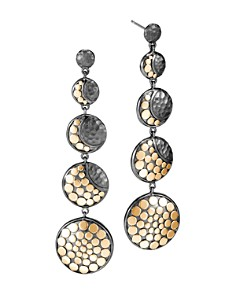 John Hardy Blackened Sterling Silver & 18K Bonded Gold Dot Hammered Moon Phase Earrings - Bloomingdale's_0