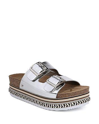 3791d664f21b Sam Edelman Women s Oakley Leather Platform Slide Sandals ...