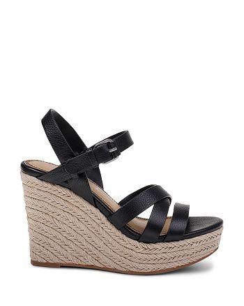 4242cc4f3a4 Splendid Women's Billie Leather Platform Wedge Espadrille Sandals ...