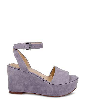 c0ee1efbd3ee Splendid Women s Felix Suede Ankle Strap Platform Wedge Sandals ...