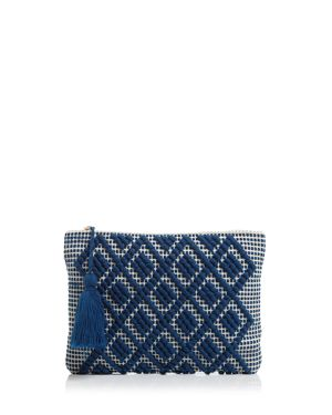 DIAMOND MOTIF CLUTCH