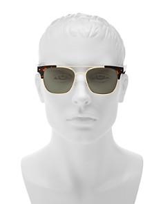 Polaroid - Men's Polarized Brow Bar Square Sunglasses, 53mm