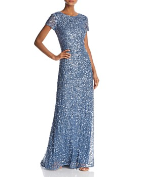 03839d2310 Adrianna Papell - Sequined Scoop-Back Gown ...