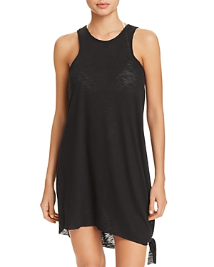 6d1e2139cc Becca By Rebecca Virtue Breezy Basics Asymmetrical-Hem Cover-Up Dress  Women'S Swimsuit In