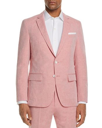 BOSS - Linen Solid Slim Fit Sport Coat