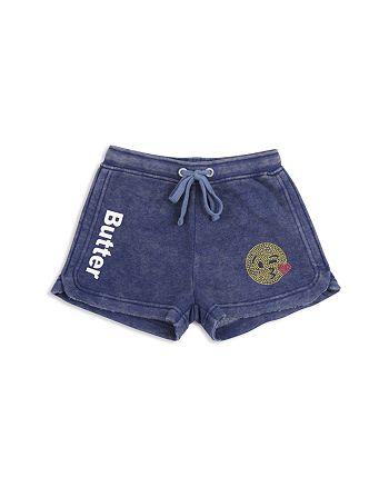 Butter - Girls' Mineral Wash Emoji Shorts - Little Kid