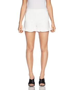 1.STATE - Ruffle-Cuff Mini Shorts