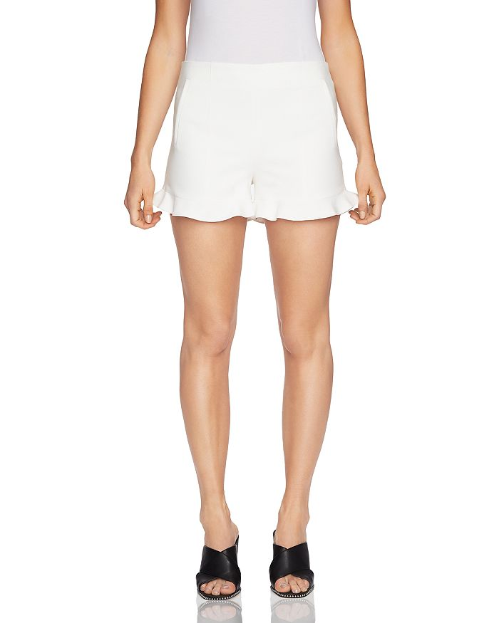 1.STATE - Ruffle-Cuff Mini Shorts