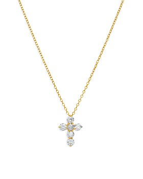 Bloomingdale's - Diamond Cross Necklace in 14K Yellow Gold, 1.0 ct. t.w. - 100% Exclusive