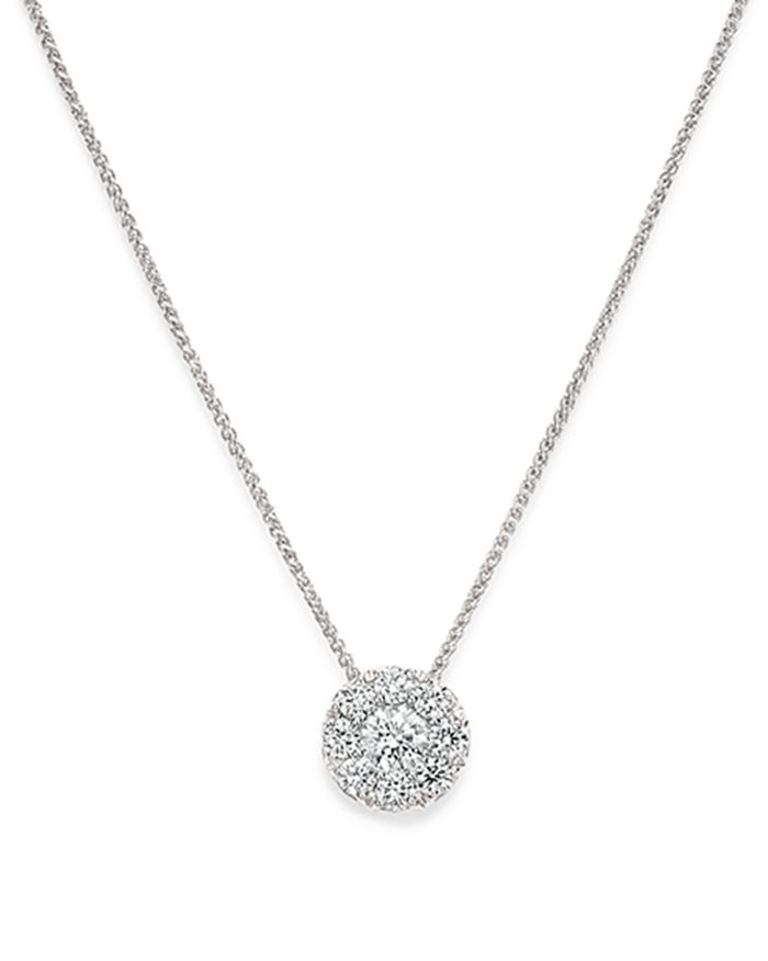 Bloomingdale's - Cluster Diamond Pendant Necklace in 14K White Gold - 100% Exclusive