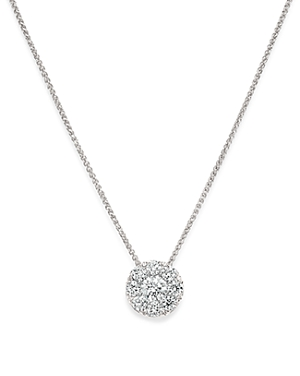 Bloomingdale\\\'s Diamond Halo Pendant Necklace in 14K White Gold, 0.50 ct. t.w. - 1005 Exclusive-Jewelry & Accessories