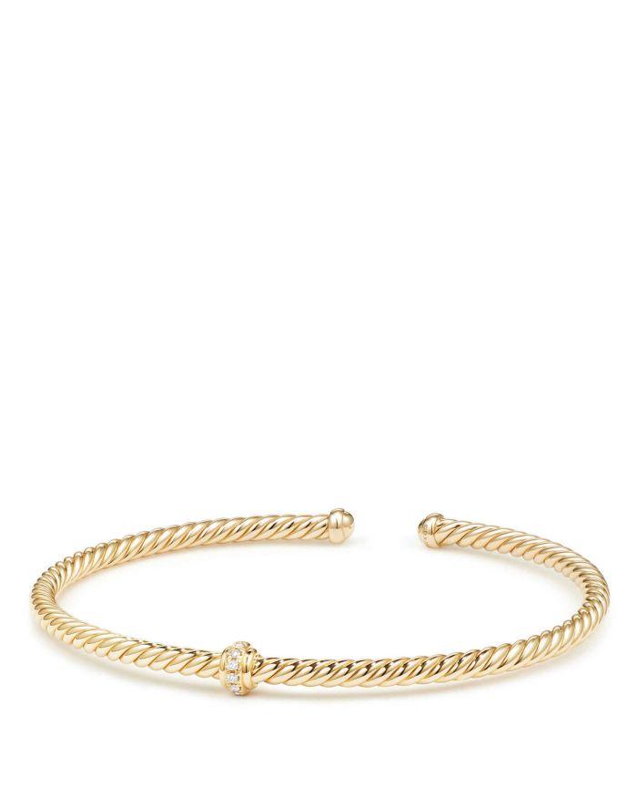 David Yurman Renaissance Center Station Bracelet with Diamonds in 18K Gold   | Bloomingdale's