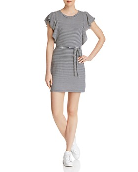 Splendid - Ruffle-Sleeve Striped Tee Dress