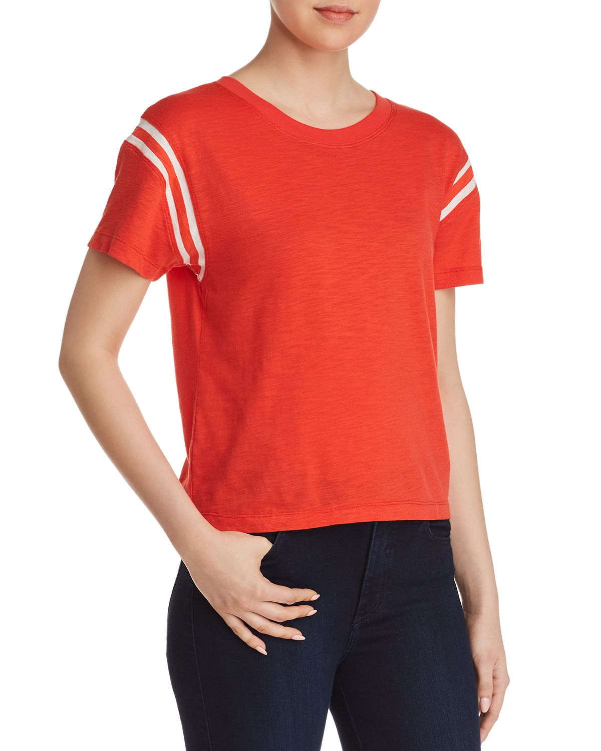 Football Striped Inset Tee by Pam & Gela