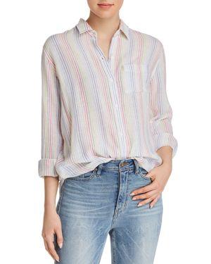 Charli Candy-Striped Long-Sleeve Shirt, Isla Strip