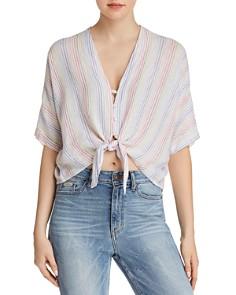 Rails - Thea Rainbow Striped Tie-Front Shirt