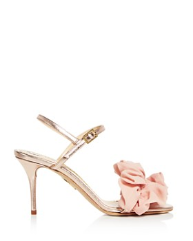 Charlotte Olympia - Women's Reia Leather & Organza Slingback High-Heel Sandals