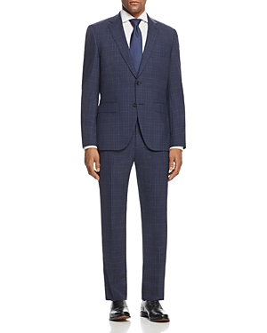 Boss Johnstons/Lenon Regular Fit Plaid Suit