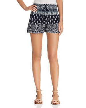 Aqua Batik Print Smocked Shorts - 100% Exclusive