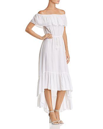 AQUA - Off-the-Shoulder Maxi Dress - 100% Exclusive