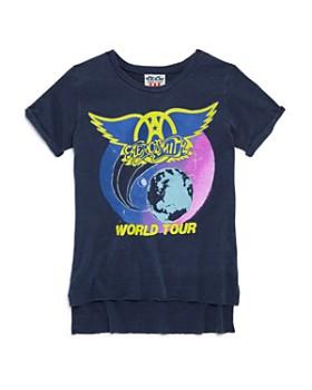 Junk Food - Girls' Aerosmith World Tour Tee - Big Kid