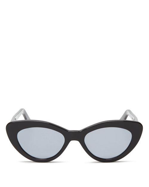 Illesteva - Women's Pamela Mirrored Cat Eye Sunglasses, 52mm