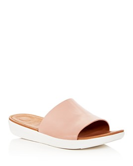 FitFlop - Women's Sola Leather Platform Slide Sandals