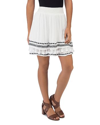 B Collection by Bobeau - Monroe Embroidered A-Line Skirt