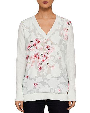 e454944ea Ted Baker - Brieana Soft Blossom Burnout Sweater