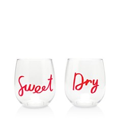 kate spade new york Stemless Wine Glass Set, Sweet & Dry - Bloomingdale's_0