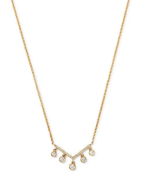 Bloomingdale's - Diamond Bezel Fringe Pendant Necklace in 14K Yellow Gold, 0.25 ct. t.w. - 100% Exclusive