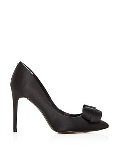 Ted Baker - Women's Skalett Satin Bow Pointed Toe Pumps